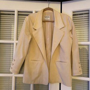 CHANEL vintage blazer pale yellow